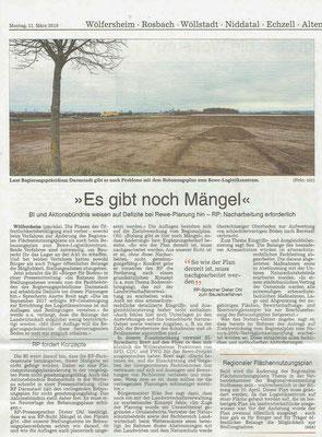 Wetterauer Zeitung vom 11. März 2019