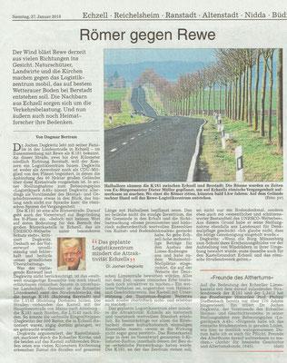 Wetterauer Zeitung, 27.1.2018