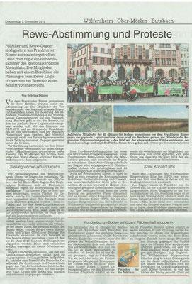 Wetterauer Zeitung, 1. November 2018