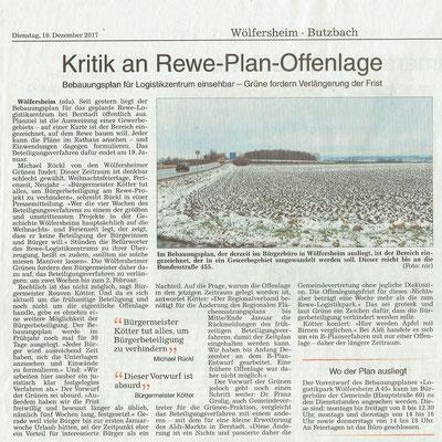 Wetterauer Zeitung, 19.12.2017