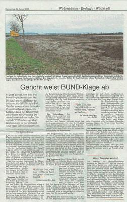 Wetterauer Zeitung vom 25. Januar 2019