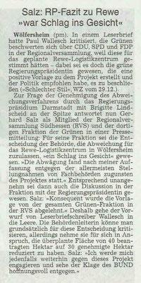 Wetterauer Zeitung, 11. Januar 2019