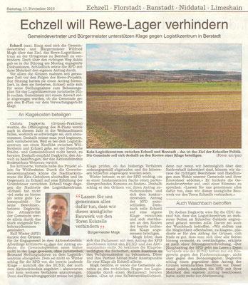 Wetterauer Zeitung, 17. November 2018