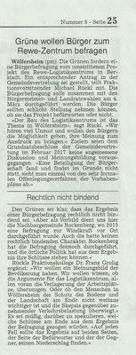Wetterauer Zeitung, 10.1.2018