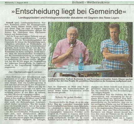 Wetterauer Zeitung, 1. August 2018