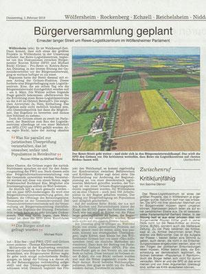 Wetterauer Zeitung,1.2.2018