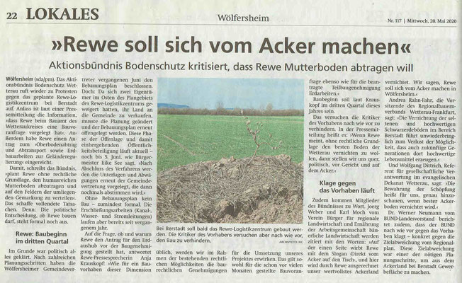 20. Mai 2020, Wetterauer Zeitung