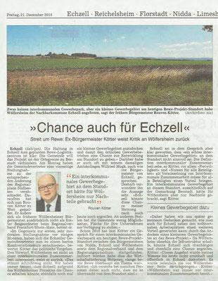 Wetterauer Zeitung, 21. Dezember 2018