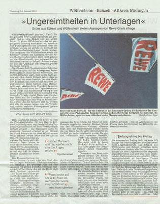 Wetterauer Zeitung,  16.1.2018