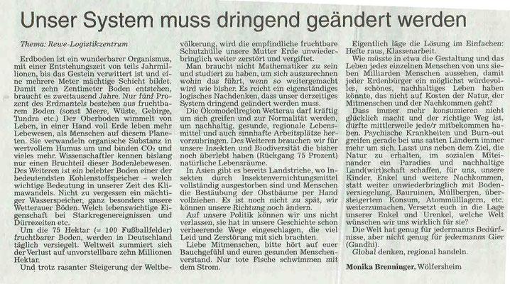 Wetterauer Zeitung vom 31. Januar 2019