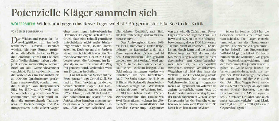 Frankfurter Rundschau, 17. Januar 2019