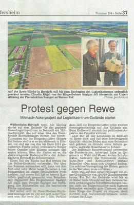 Wetterauer Zeitung, 5. Mai 2018