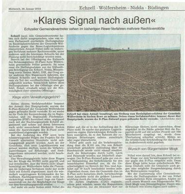 Wetterauer Zeitung vom 30. Januar 2019