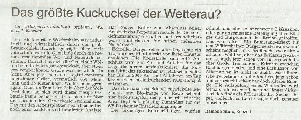 Wetterauer Zeitung, 6.2.2018