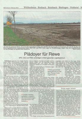 Wetterauer Zeitung vom 27. Februar 2019