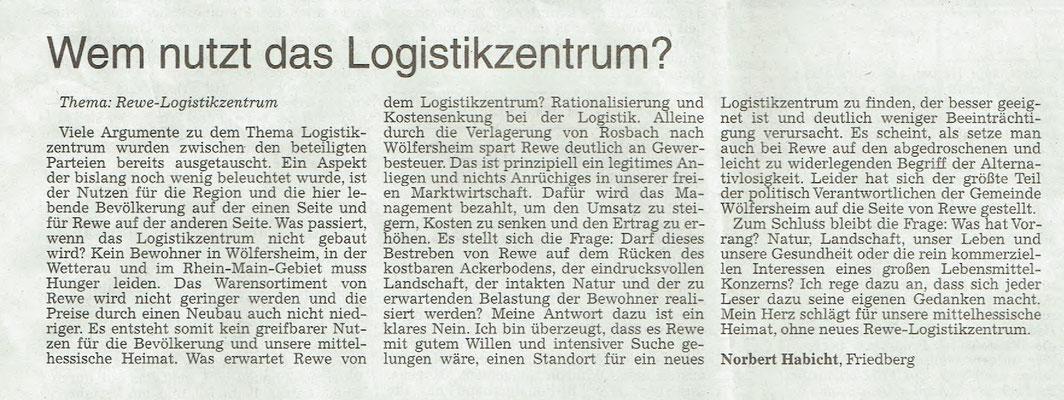 Wetterauer Zeitung, 10.11.2018
