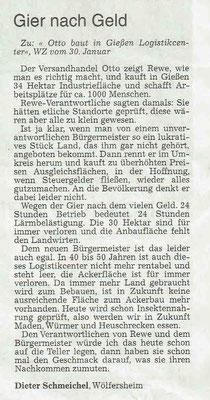 Wetterauer Zeitung vom 2. Februar 2019