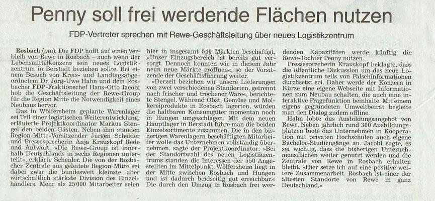 Wetterauer Zeitung, 14. November 2018