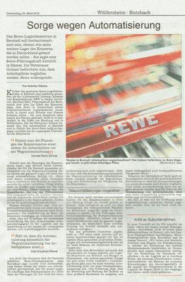 Wetterauer Zeitung, 29. März 2018