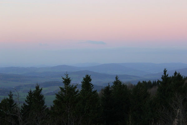 18. Blaue Stunde  über der Rhön