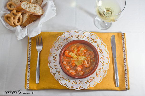 Gambas ajo, restaurante la llar Benicàssim
