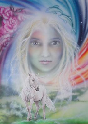Jungfrau mit Einhorn
