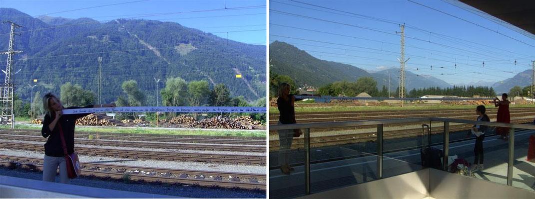 Gleis 4 - Bahnhof Spittal - Kärnten am Millstättersee (Österreich)