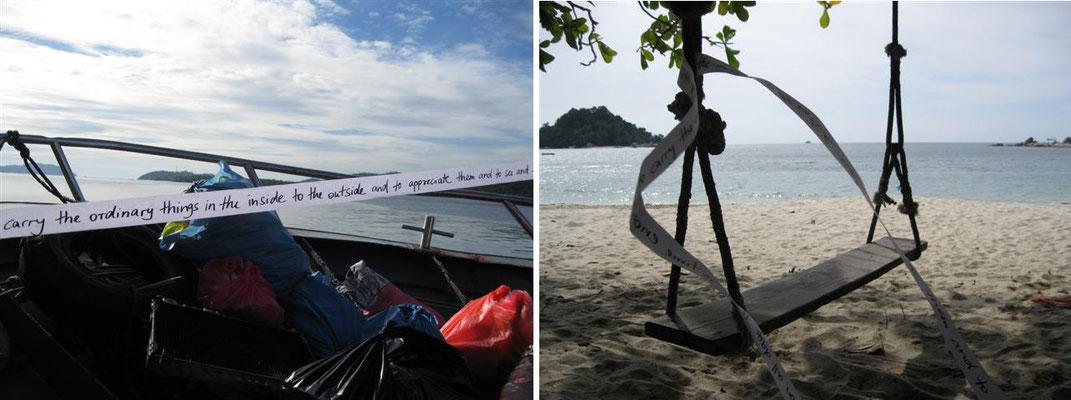 Boot zur Insel und Coral Beach - Pulau Pangkor (Malaysia)