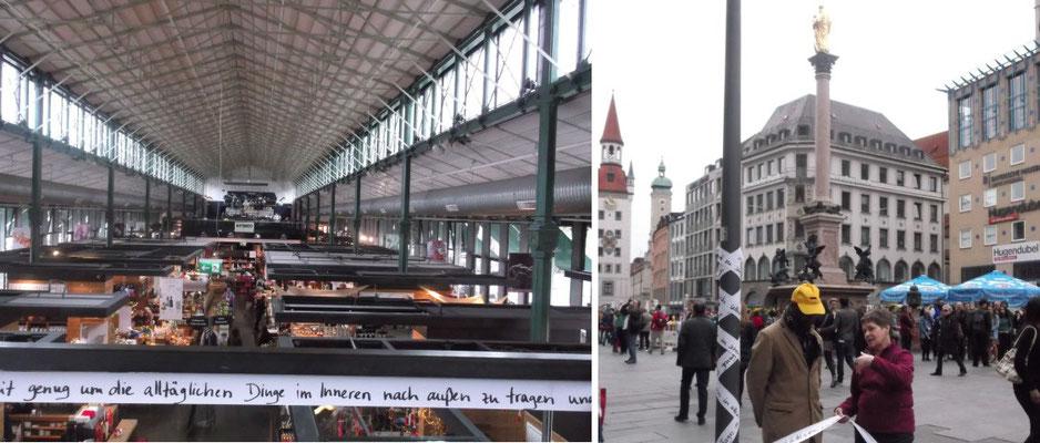Schrannenhalle am Viktualienmarkt und Marienplatz – München (Deutschland)
