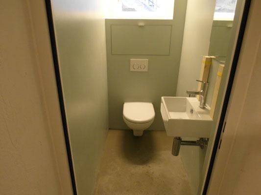 WC nach den Renovationsarbeiten