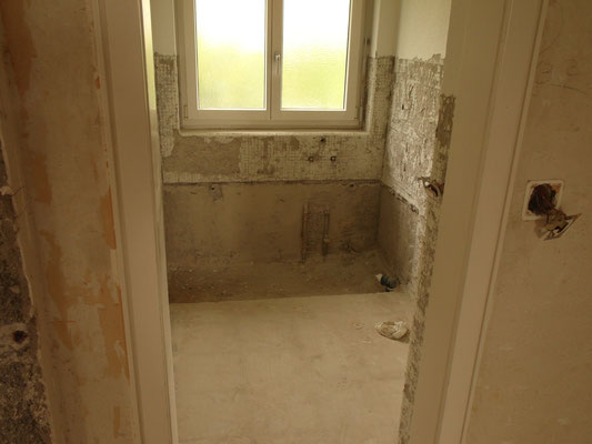 Abbrucharbeiten Gäste-WC