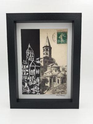 Baslilique Notre Dame du Port Noir et Blanc