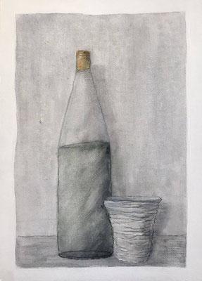 Senza titolo. Acrilico su cartone telato inciso (25 cm x 35 cm)