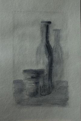 Senza titolo. Acrilico su foglio inciso (30,3 cm x 20 cm)