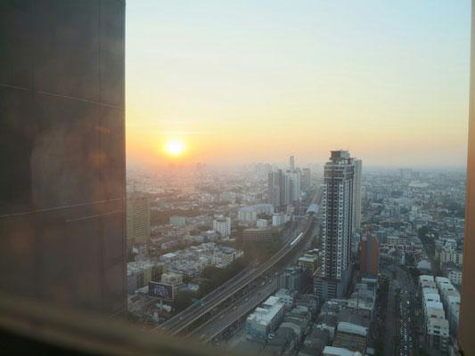 Sonnenuntergang aus dem Appartement.