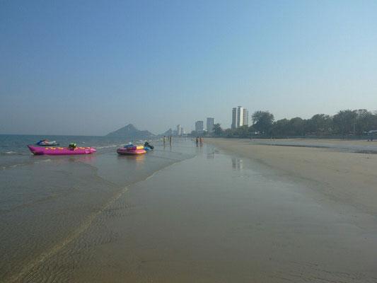 Wenn das Wasser zurück geht, kommt der 8 km Strandlauf dran.