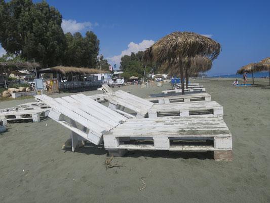 Am Strand ist noch nichts los.