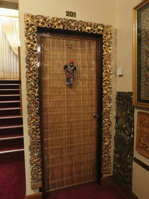 Unsere Eingangstür zum Zimmer.