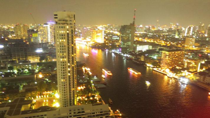 Bangkok bei Nacht aus dem 42. Stock.