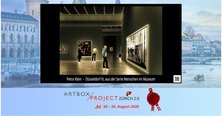 """""""Düsseldorf III"""" aus der Serie Menschen im Museum auf der SwissArtExpo 2020"""