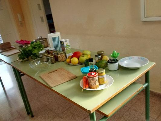 Alimentos con los que hemos elaborado los desayunos