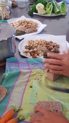 Pan, frutos secos y semillas
