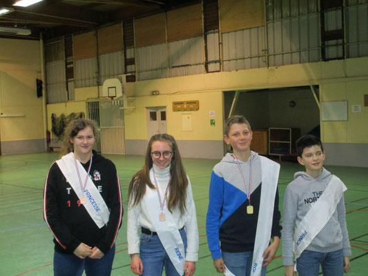 Lyse, princesse ; Eulalie, reine ; Jules, roi et Raphael, prince : félicitation à la jeunesse