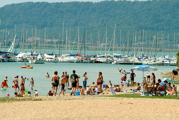 Plage du lac de Madine - Photo Michel Petit