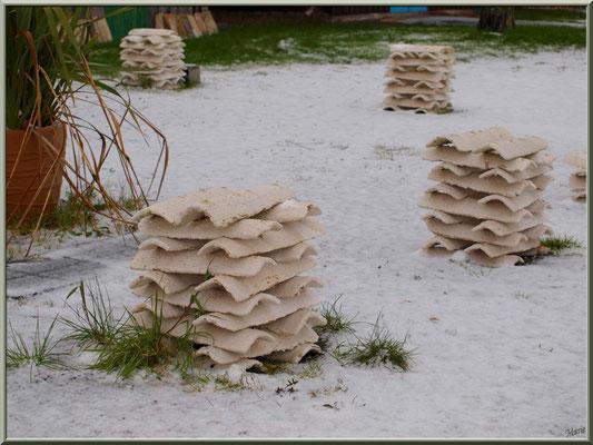 Tuiles en habit neigeux