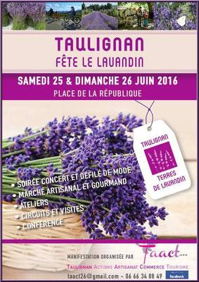 Affiche Taulignan Fête le Lavandin 2016