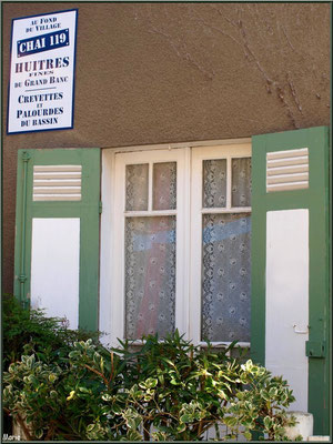 Maison avec sa petite pub, village de L'Herbe, Bassin d'Arcachon (33)