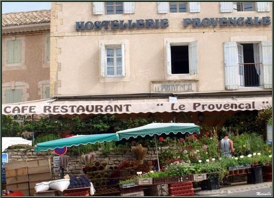 Marché de Provence, mardi matin à Gordes, Lubéron (84), étal de fleurs