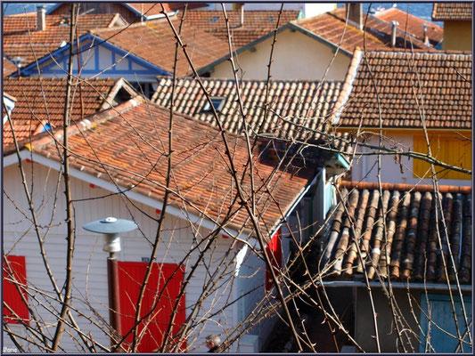 Le village de L'Herbe et ses maisons colorées, Bassin d'Arcachon (33)