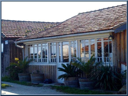 Maison et cabane sur le port ostréicole (Cap Ferret)